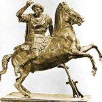 Ο Μέγας αλέξανδρος ιππεύοντας τον Βουκεφάλα.